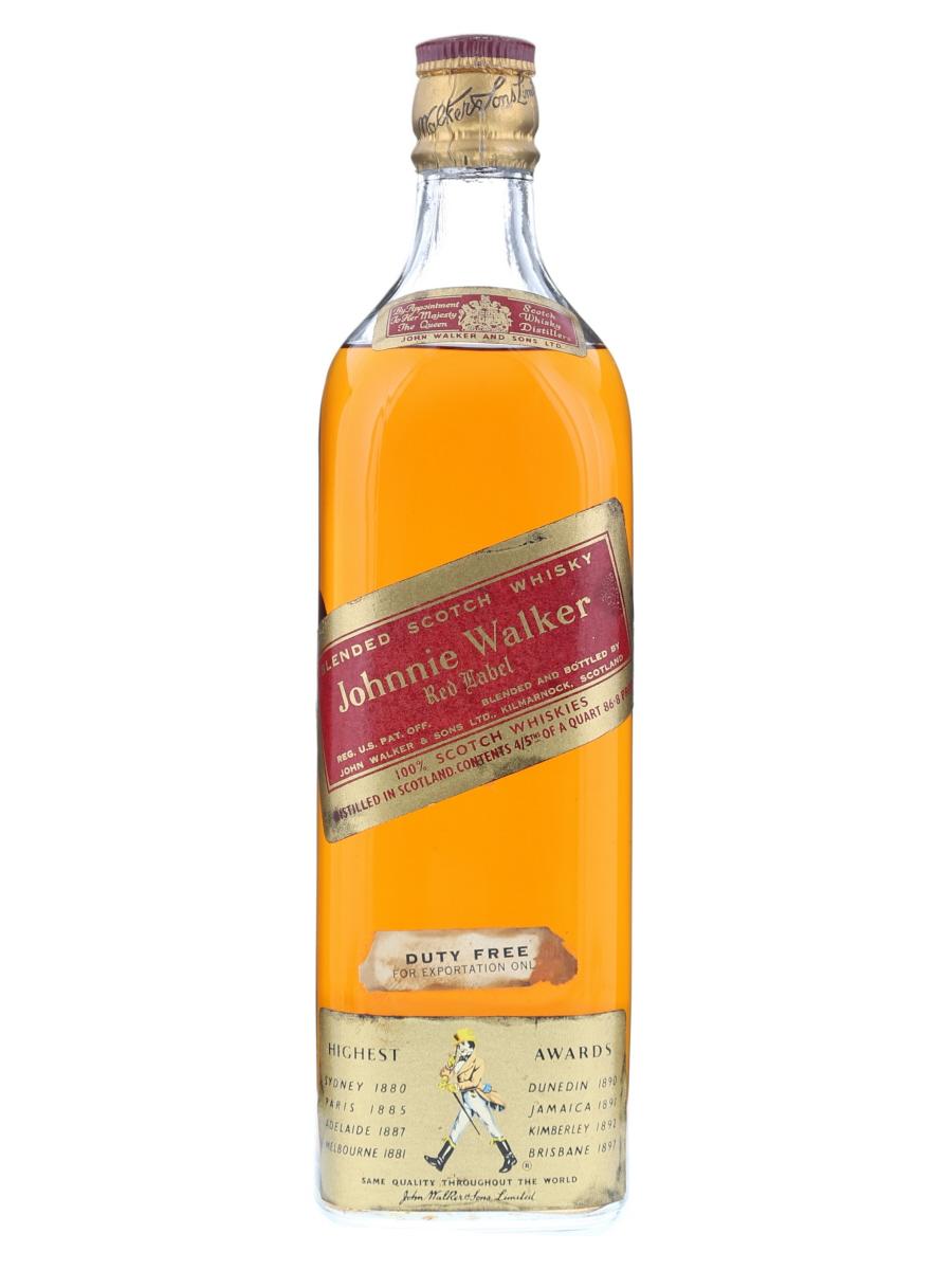 Johnnie Walker Red Label (Cork Cap) 4/5 Quart