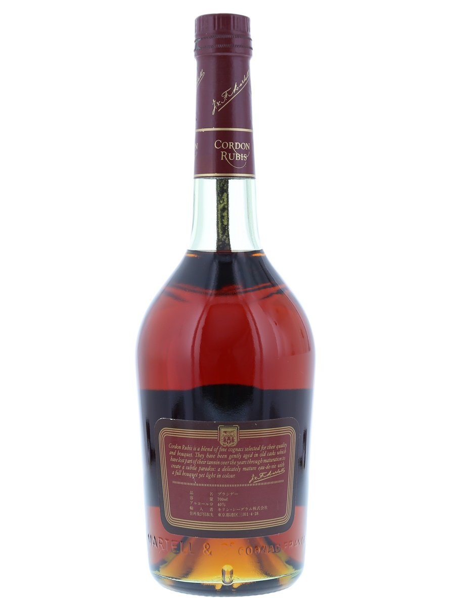 Martell Cordon Rubis Cognac 70cl / 40% Back